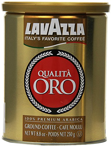 Lavazza Qualita Oro Ground Coffee, 8.8-Ounce Cans