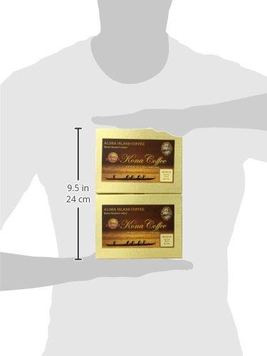 Aloha Island Coffee KONA-POD, Medium Roast, 100% Pure Kona Coffee, 36-Count Coffee Pods