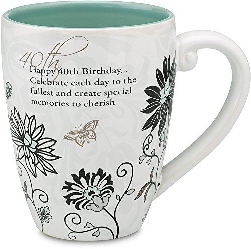 Mark My Words 40th Birthday Mug, 4-3/4-Inch, 20-Ounce Capacity