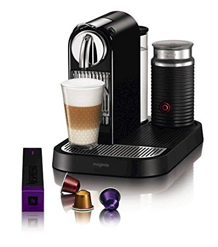 Nespresso D121-US4-BK-NE1 Espresso Maker with Aeroccino Milk Frother, Black