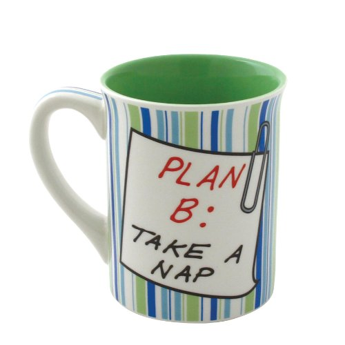 Enesco Our Name is Mud by Lorrie Veasey Retirement Plan Mug, 16-Ounce