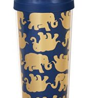 Lilly Pulitzer Tusk in Sun Navy Thermal Mug, Navy/Gold