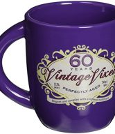Laid Back CF12044 60th Birthday Vintage Vixen Ceramic Mug, 12-Ounce
