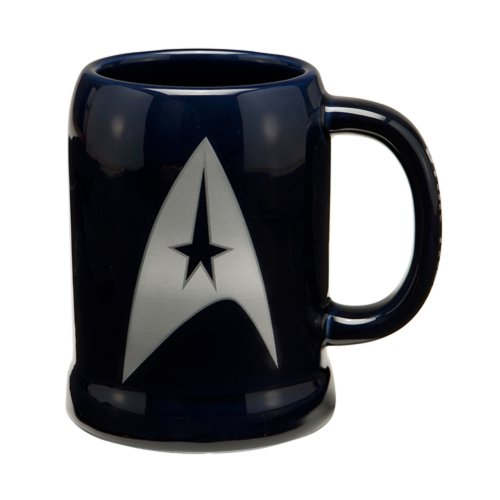 Vandor 80879 Star Trek 20 oz Ceramic Stein, Blue