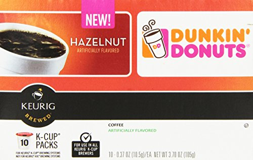 Dunkin' Donuts Coffee for K-Cup Pods, Hazelnut, 60 Count