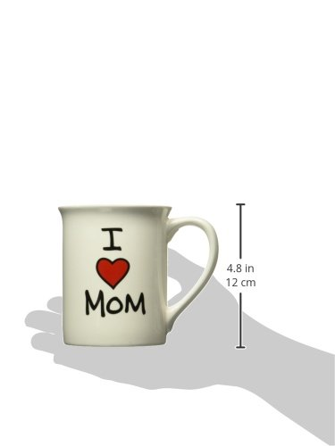 Enesco 4026593 Our Name Is Mud by Lorrie Veasey I Heart Mom 16-Ounce Mug, 4-1/2-Inch