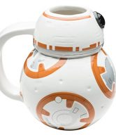 Zak! Designs Sculpted Ceramic Mug in Shape of BB-8 from Star Wars The Force Awakens, BPA-free, Star Wars Collectible