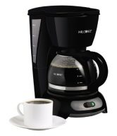 Mr. Coffee TF5 4-Cup Switch Coffeemaker, Black