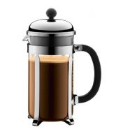 Bodum Chambord 8-Cup Coffee Maker, 34-Ounce, Matte Chrome