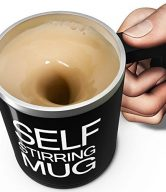 OliaDesign Self Stirring Coffee Mug, Black