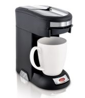 Café Valet Black/Silver Single Serve Coffee Brewer Starter Kit/Combo, Includes 10-Count Variety Pack of Exclusive Café Valet Coffee